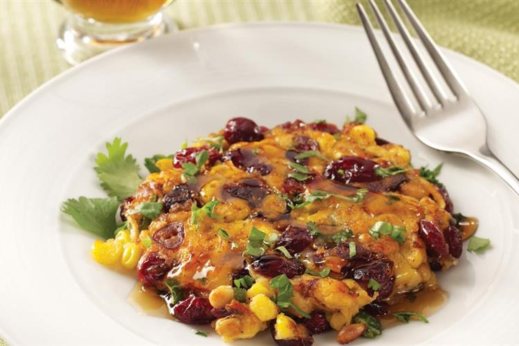 Chipotle Corn and Cranberry Fritters