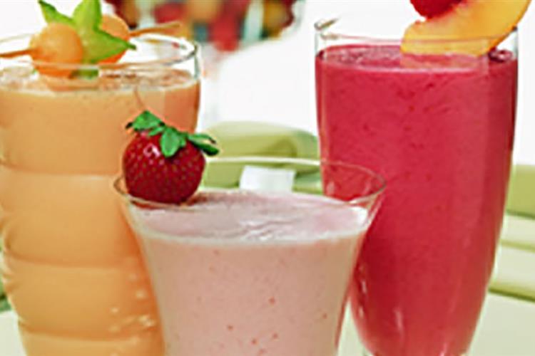 White Cranberry Strawberry Smoothie